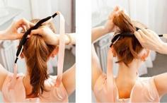 海绵飘带的盘发器怎么用?快速盘发的小秘诀