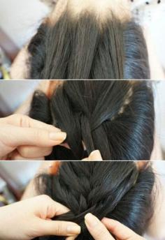 速来学!特别的编发丸子头扎法图解