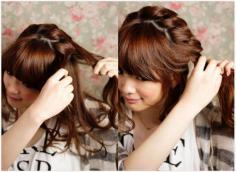 超甜美另类的公主头发型图解扎法分享