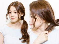 优雅浪漫风韩式低马尾发型扎法