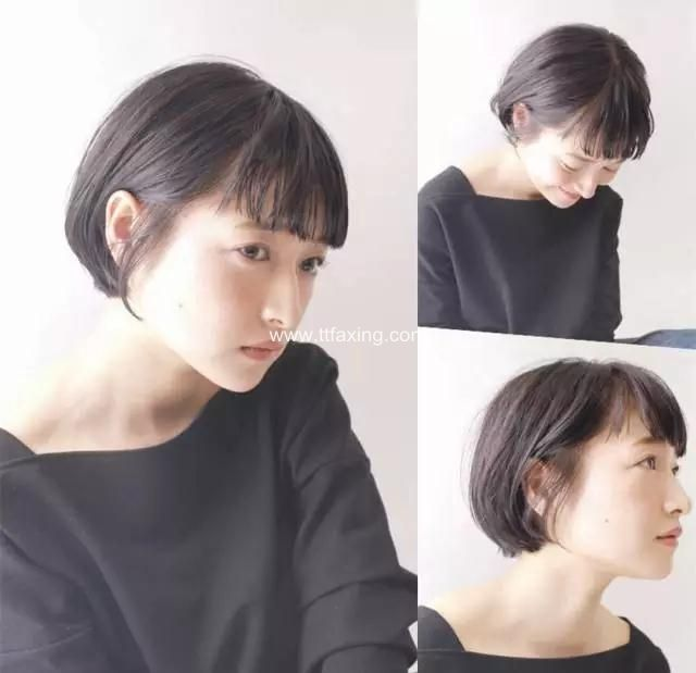 清爽的有刘海露耳短发发型 让你知性更显气质 ttfaxing.com