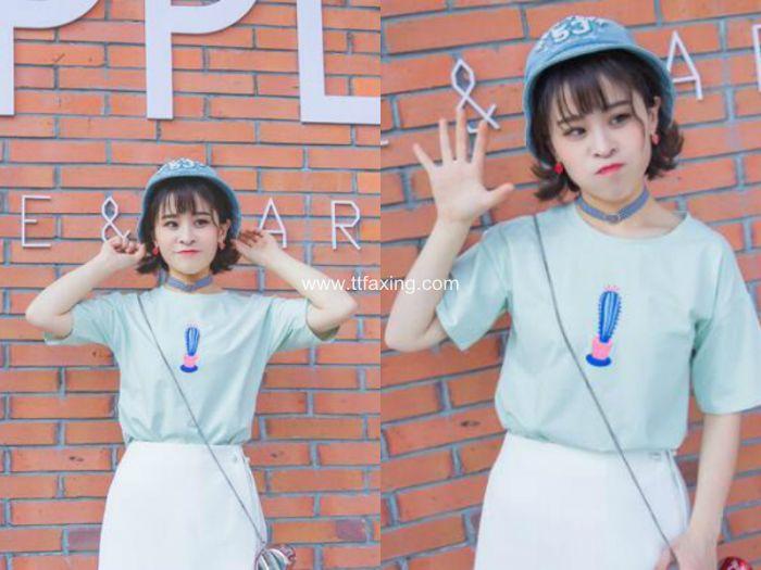 清新显嫩学生荷叶头发型图片 ttfaxing.com