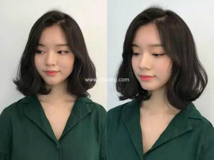 【图片】甜美动人的韩式及肩短发 ttfaxing.com