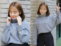 灵动且纯美的韩系半透明刘海发型