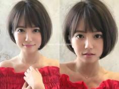 乖巧短直发波波头发型 显瘦与减龄同时兼具