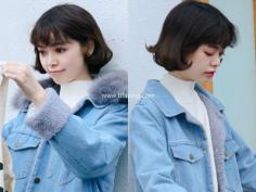 最近流行的发尾烫卷短发发型,时髦又减龄!