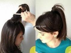 头发少花苞头扎法分享,增加发量没难度