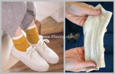 用袜子自制盘发器,这样盘发环保又稳固