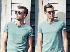 时尚又清爽的男两边短中间长发型